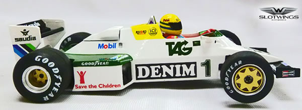 Slotwings La collection Ayrton Senna arrive avec la F1 Williams FW08C