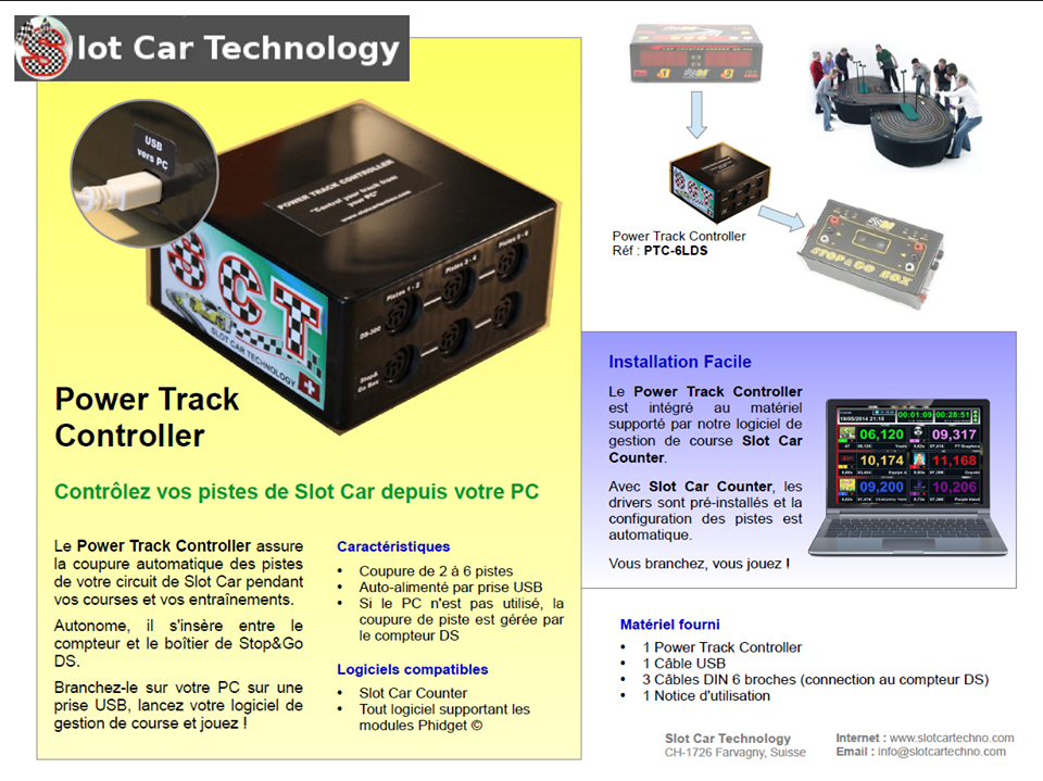 Slot Car Technology: Power Track Controller
