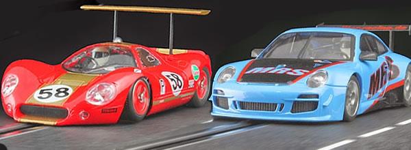 NSR Deux voitures de slot dans les paddock pour mai 2014