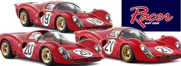 Racer les trois Ferrari 330 P4 Le Mans 1967