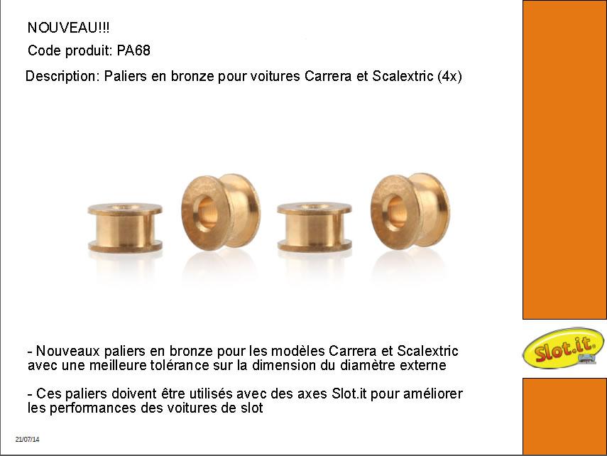 Palier Slot it pour voiture Carrera et Scalextric PA68