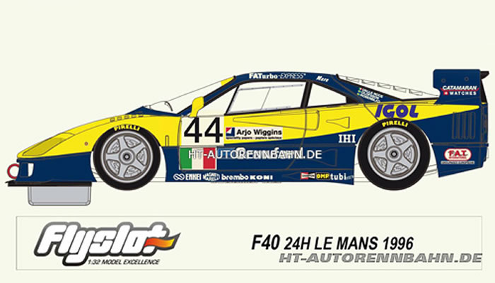 FY049101AV - FlySlot Avant Slot FERRARI F40 Le Mans96