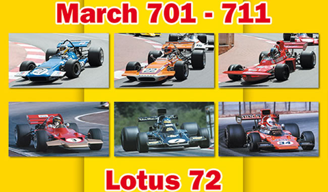 Lotus 72 MARCH 701 et MARCH 711