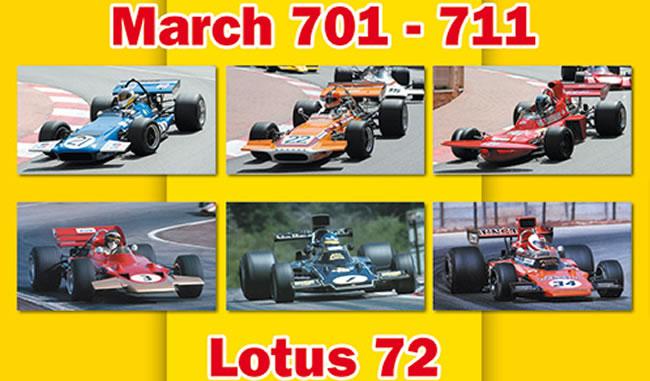 Lotus 72 MARCH 701 et MARCH 711
