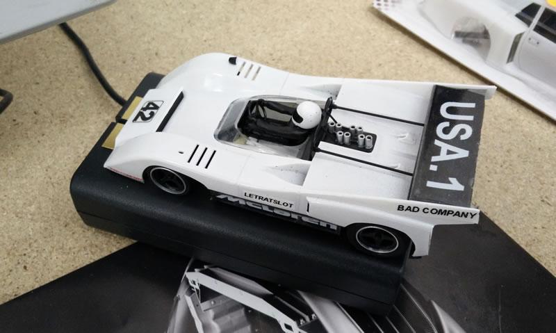 Le boitier DAVIC avec la voiture connecté au PC