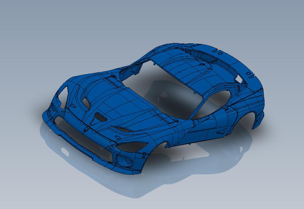 Scaleauto projet Viper SRt GT3 à l'échelle 1/32