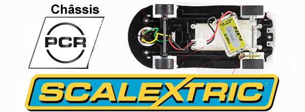 Scalextric le chassis PCR avec des pièces Slot.it