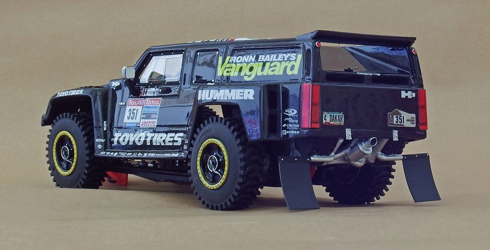 Slotart Le Hummer H3 Dakar 2010 Pour Le Rallye Slot