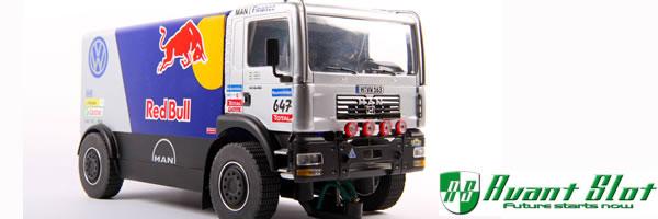 Avant Slot: Le Camion Man TGA 4×4 Red Bull retardé