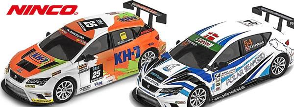 Ninco: Deux nouvelles Seat Leon Cup Racer pour le slot