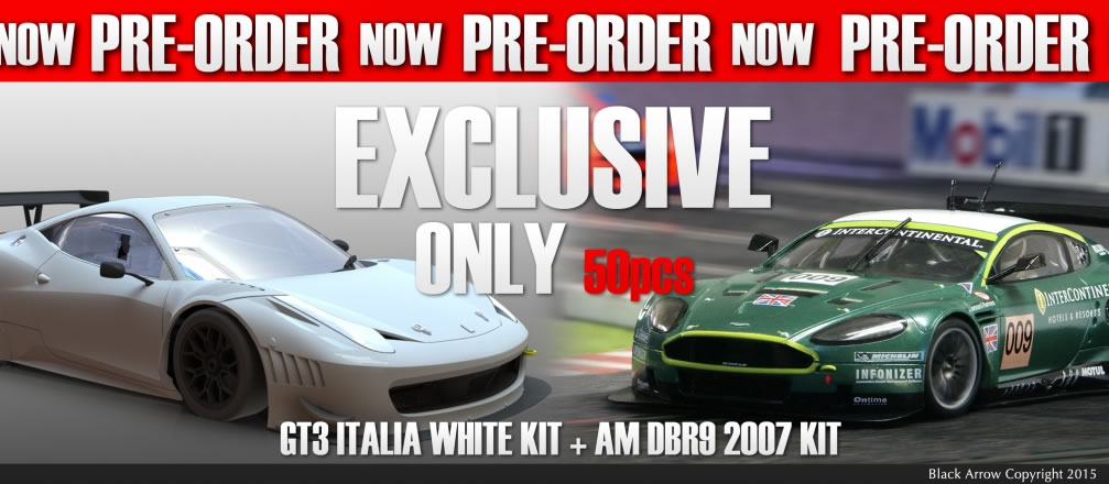 Black Arrow: un pack GT3 Italia KIT AW 2015 + AM DBR9 Winner 2007 en précommande