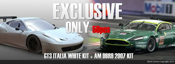 Black Arrow un pack GT3 Italia KIT AW 2015 + AM DBR9 Winner 2007 en précommande