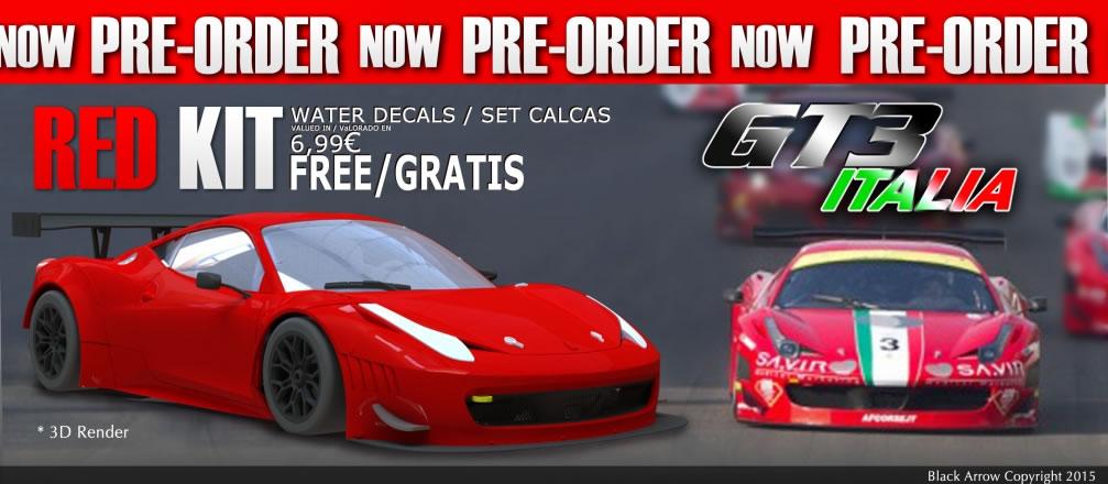 GT3 Italia Black Arrow Red