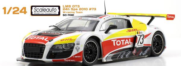 Scaleauto: L' Audi R8 DHL GT3 LMS (SC-7061) au 1/24