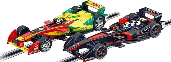 Carrera presente deux Formule E pour le slot