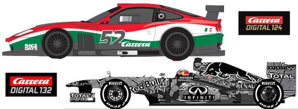 Carrera: Deux voitures de slot en édition limitée