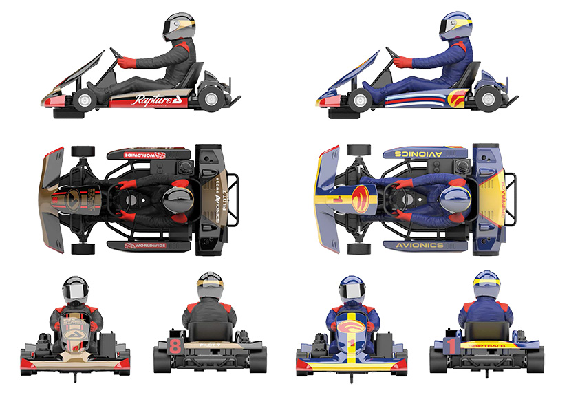 Les karts Scalextric
