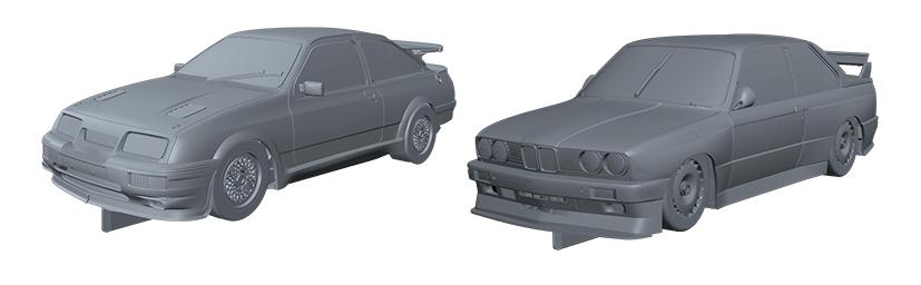 Ford Sierra RS500 et la BMW E30