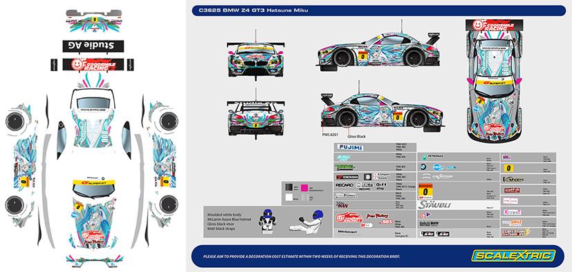BMW Z4 GT3 2012 Hatsune Miku - C3625.