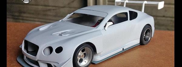 Area71 Slotcars: Un kit imprimé en 3D de la Bentley Continental GT3