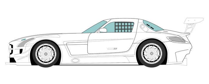 Mercedes SLS AMG GT3 à l'échelle 1/24