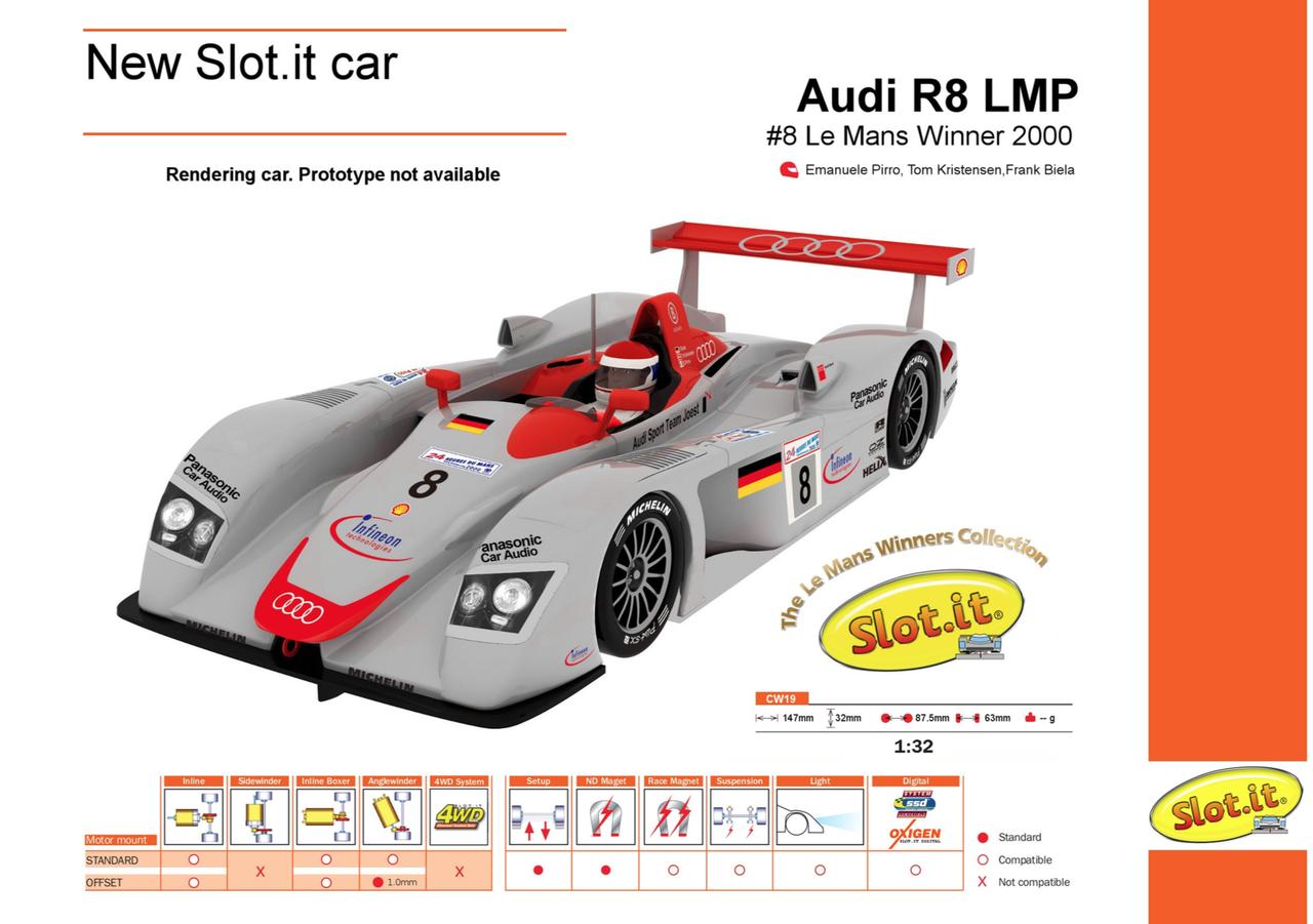 Slot it: Audi R8 LMP – #8 – Le Mans Winner 2000