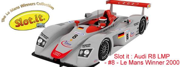 Slot it : Audi R8 LMP - #8 - Le Mans Winner 2000