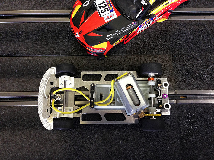 Chassis alu PRS pour voiture GT3 Scalextric