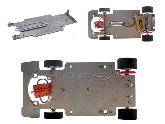 P.R.S: Chassis en alu 1/24 pour les voitures de slot Carrera