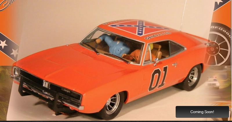 "Pioneer Slot Car: La Dodge Charger ""General Lee"" en préparation"