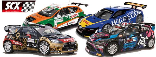 SCX: Quatre belles voitures de slot pour décembre