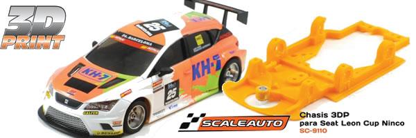 Scaleauto: le premier châssis de la gamme 3DP pour la Seat Leon Ninco