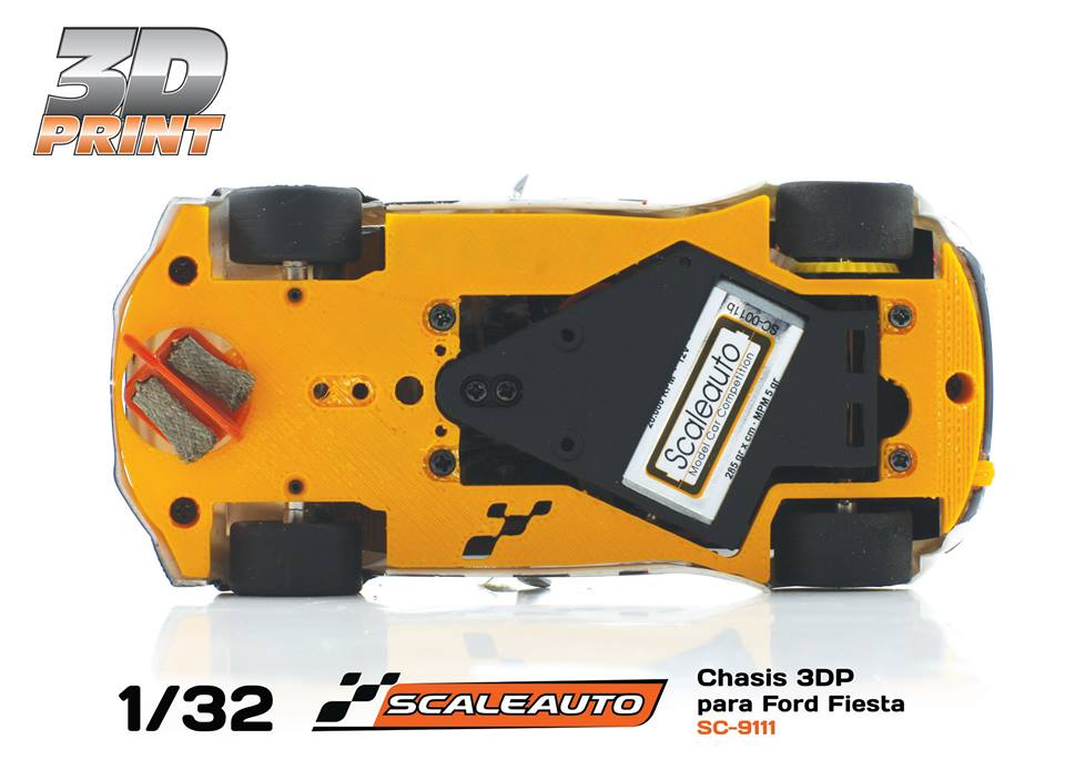 Scaleauto: le chassis impression 3D pour la Ford Fiesta WRC Scalextric