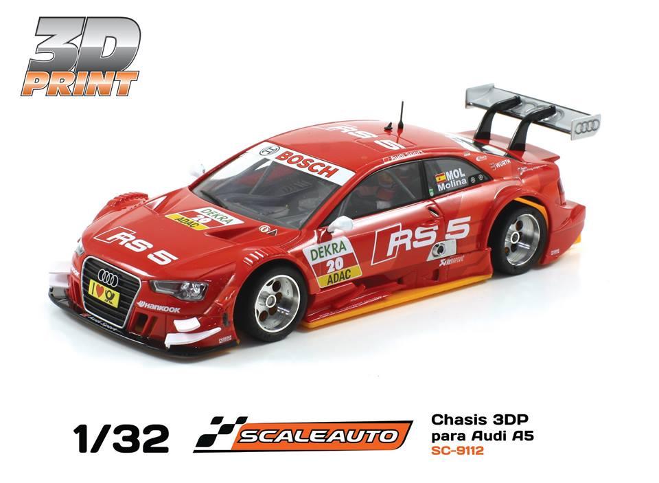 SC-9112 3 DP châssis impression 3D pour voiture Carrera Audi A5 DTM