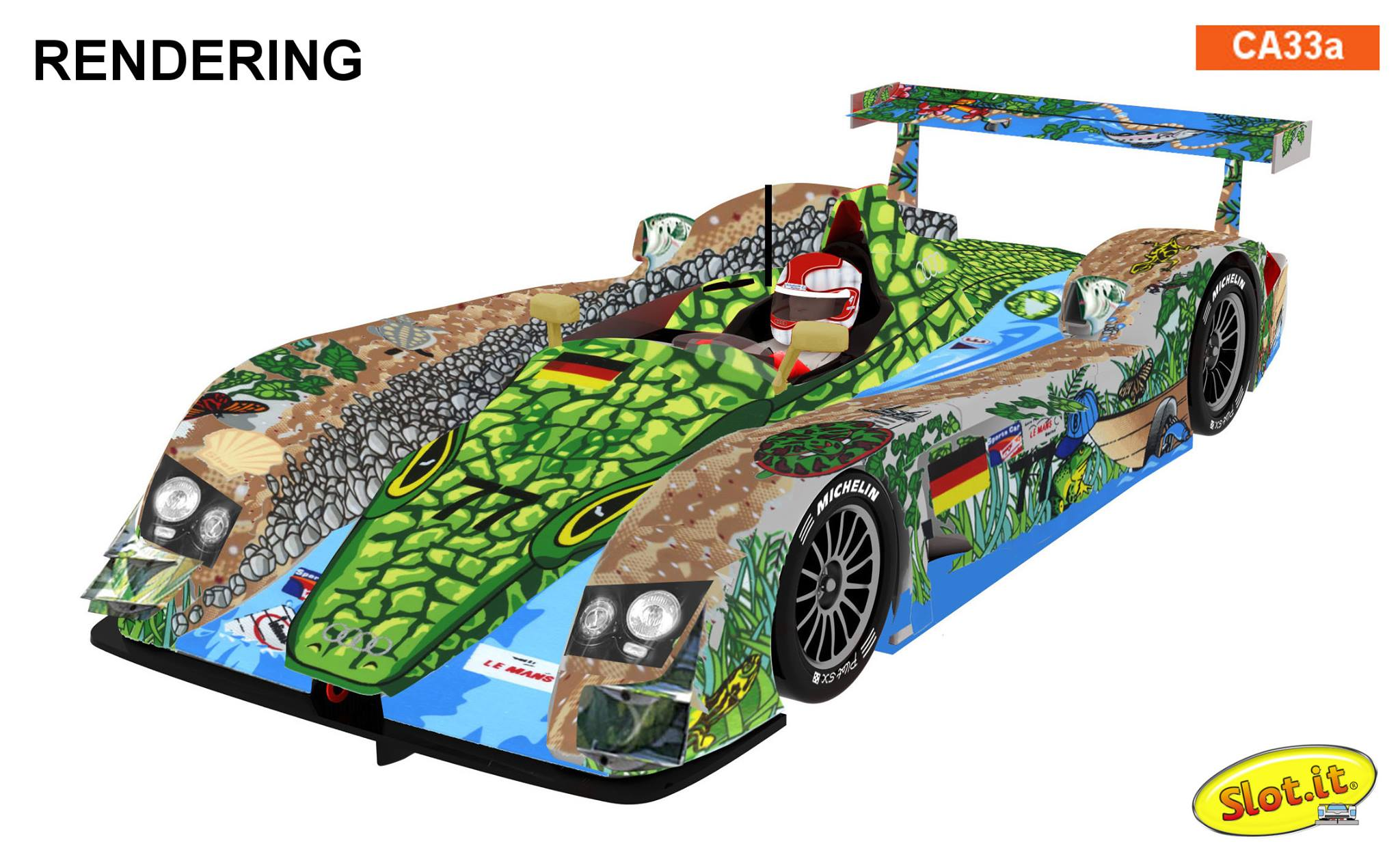 Slot it: Audi R8 LMP #77 1st Race of a Thousand Years  CA33a
