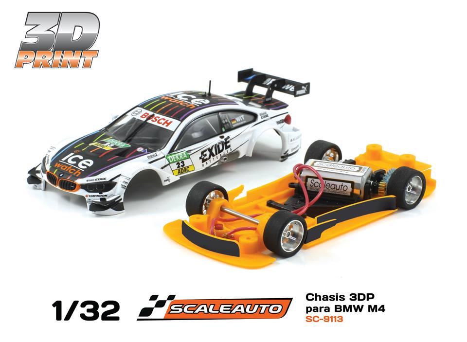 SC-9113 3 DP châssis impression 3D pour voiture Carrera BMW M4 DTM