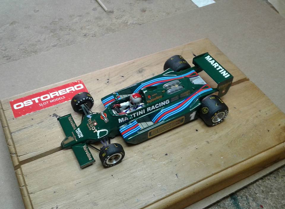 Ostorero: la Lotus Ford 79 Team Lotus Martini Racing Mario Andretti Italian GP