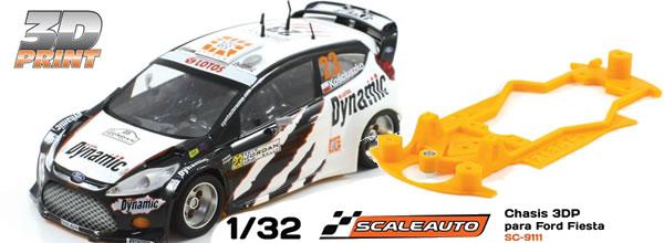 Scaleauto le chassis impression 3D pour la Ford Fiesta WRC Scalextric