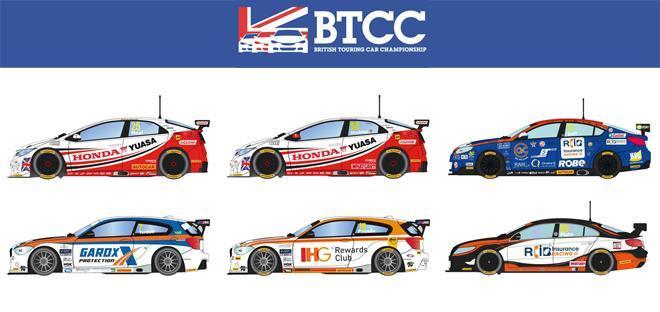Scalextric: les voitures du BTCC Touring Car Challenge pour le slot