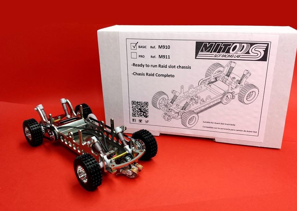"Mitoos: Un châssis pour le rallye slot ""Raid Basic M910"""