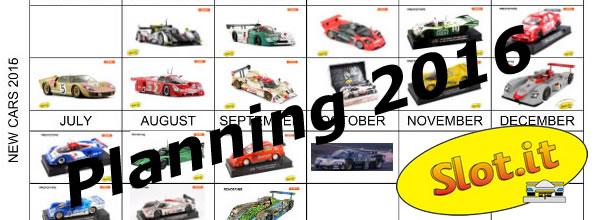 Slot.it: le planning des sorties slot racing pour 2016