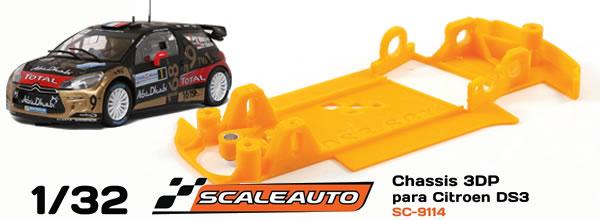 Scaleauto: le châssis impression 3D pour la Citroën DS3 WRC de SCX