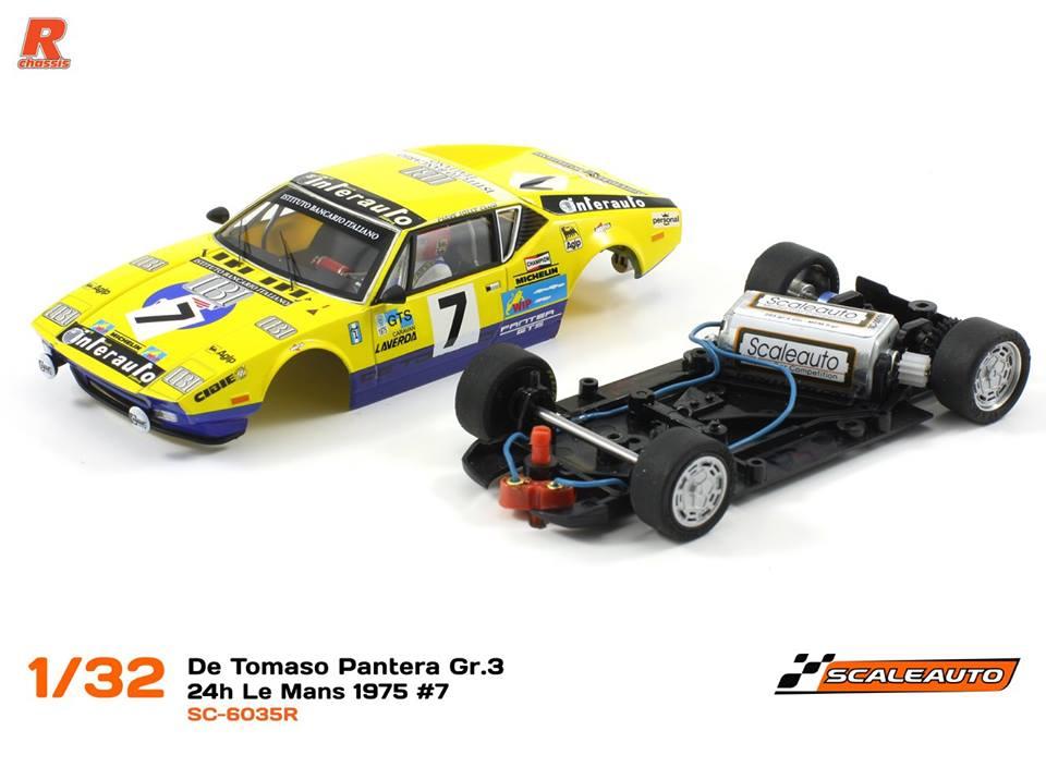 Scaleauto: la De Tomaso Pantera 24h du Mans 1975 #7 SC-6035R