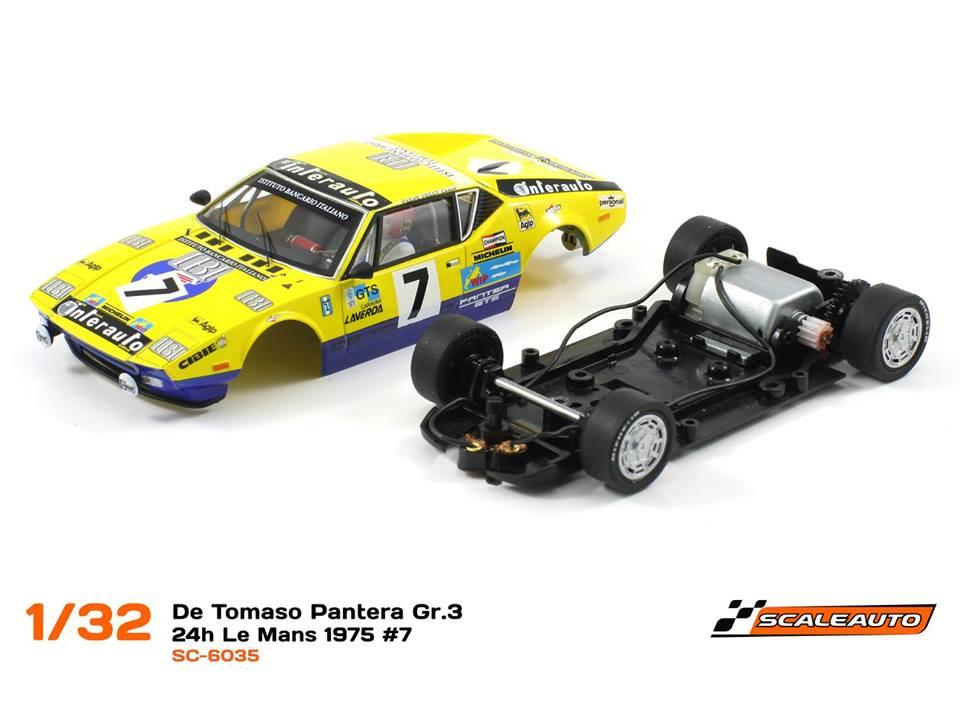 Scaleauto: la De Tomaso Pantera 24h du Mans 1975 #7 SC-6035