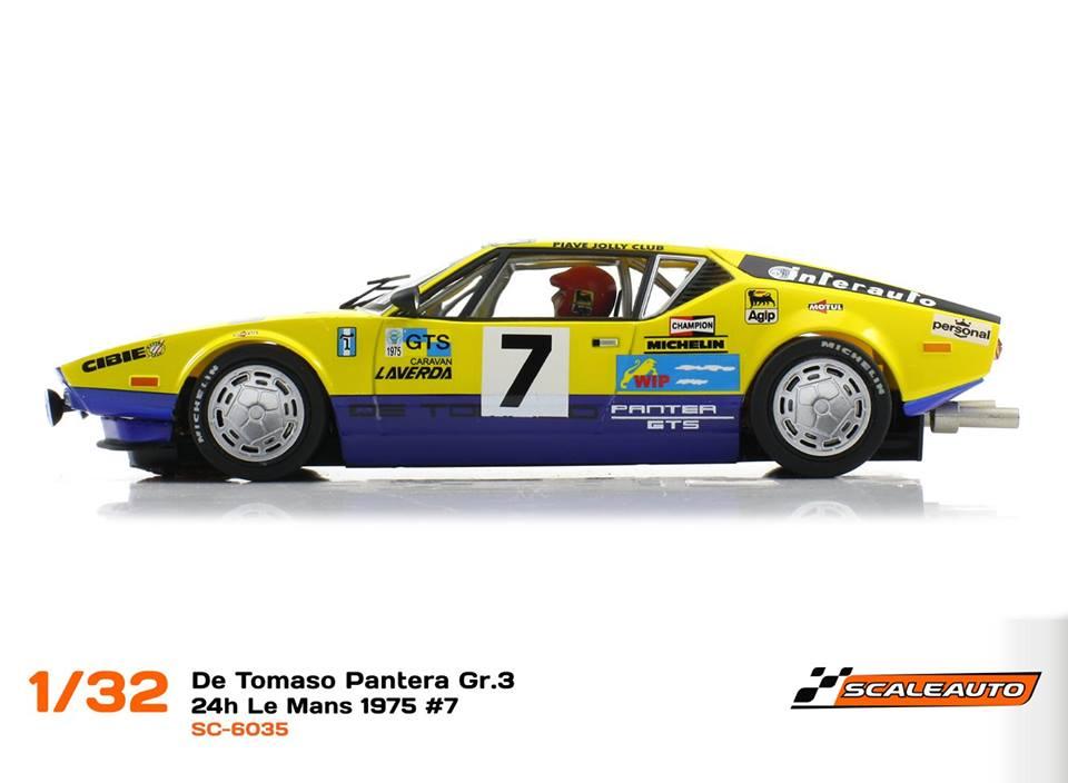 Scaleauto: la De Tomaso Pantera 24h du Mans 1975 #7Scaleauto: la De Tomaso Pantera 24h du Mans 1975 #7