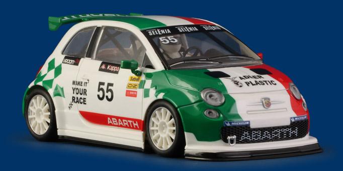 014SW - Abarth 500 white Trofeo Abarth Italia #55