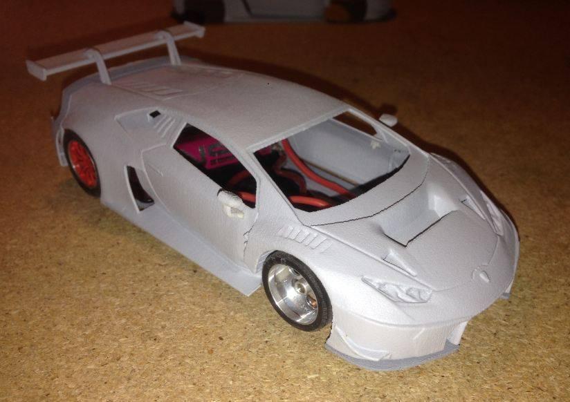 The Area71 Slotcars: Lamborghini Huracan Gt3 en impression 3D