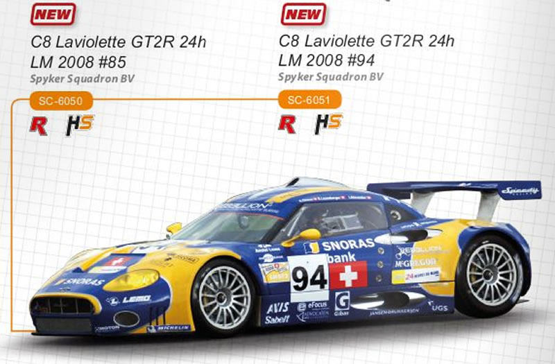 Spyker C8 Spyder GT2r 24 h le Mans 2006 #85 Réf. SC-6053 et SC-6053 r