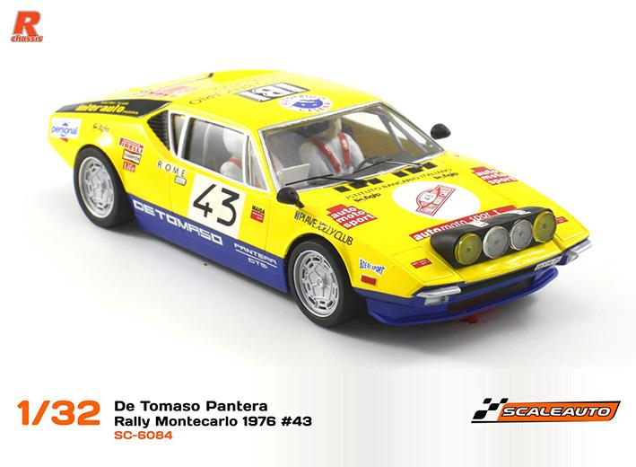 Scaleauto: De Tomaso Pantera  Rallye  Monte carlo 1976  #43