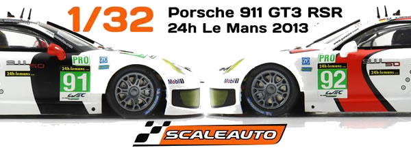 Scaleauto: Deux Porsche 911 RSR à l'échelle 1/32 bientôt sur les pistes de slot